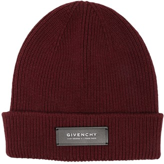 Givenchy Logo Patch Knitted Beanie