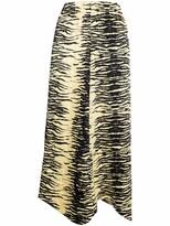 Thumbnail for your product : Ganni Zebra-Print Midi Skirt