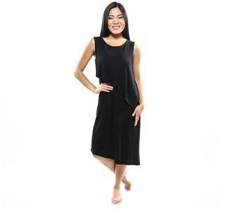 Skinnytees skinnytees Sleeveless Asymmetrical Dress