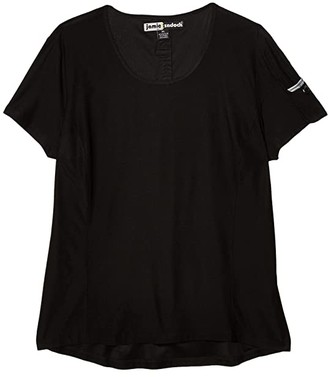 Jamie Sadock Short Sleeve Top (Jet Black) Women's Clothing