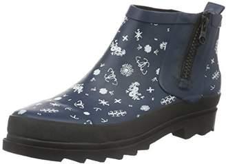 Sanita Women's Fiona Welly Ankle Boots, Blue-Blau (Print 5)