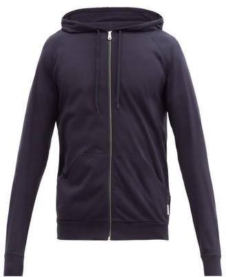 Paul Smith Signature Stripe Zip Through Hooded Sweatshirt - Mens - Navy