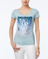 Armani Exchange Metallic-Detail Graphic T-Shirt