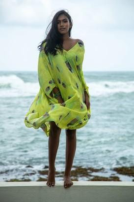 Verandah Hand-Beaded Kaftan Dress