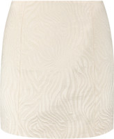 Pierre Balmain Cotton-blend jacquard mini skirt