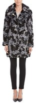 Betsey Johnson Happy Flower Faux Fur Coat.