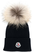 Moncler pom pom knitted hat
