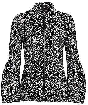 Akris Women's Embroidered Trumpet-Sleeve Jacket