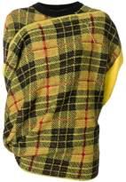 Junya Watanabe layered tartan sweater