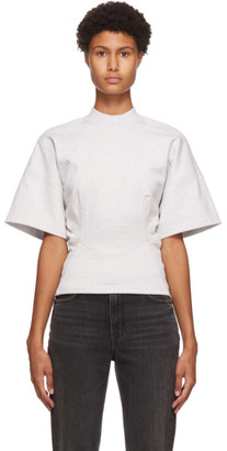 alexanderwang.t Grey Sculpted Short Sleeve Top
