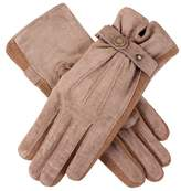 Dents Women's Warm Lined Casual Pigsuede Glove