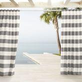 Outdoor Stripe Curtains - Light Gray