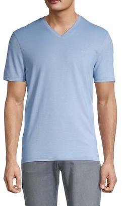 Michael Kors Oxford Pique V-Neck T-Shirt