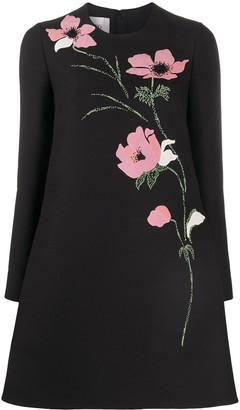 Valentino Floral Embroidered Shift Dress