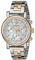 Versace Women's VLB090014 Day Glam Two-Tone Stainless Steel Watch with Link Bracelet