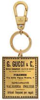 Gucci Vintage label keychain