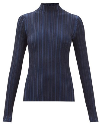 Acne Studios Katina High-neck Ribbed Sweater - Navy