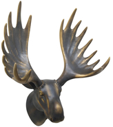 Three Hands Moose Head Wall Figure