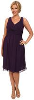 Donna Morgan Plus Size Jessie Short Bra Friendly Chiffon Dress