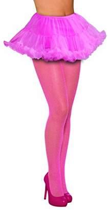 Forum Novelties Women's Fishnet Stockings Glitter Pink Tights, One Size