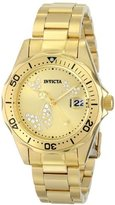 Invicta Women's 12505 Pro Diver Analog Display Japanese Quartz Gold Watch