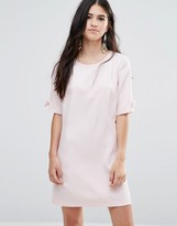 Traffic People Shift Dress With Bow Sleeve