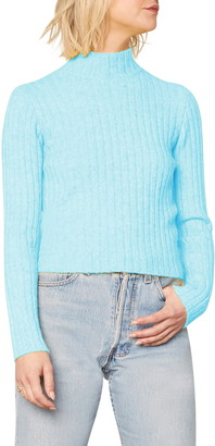 Cupcakes And Cashmere Dinah Ribbed Mock Neck Sweater