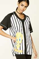 Forever 21 FOREVER 21+ Tweety Graphic Baseball Jersey