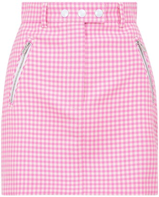 Miu Miu Gingham Checked Mini Skirt