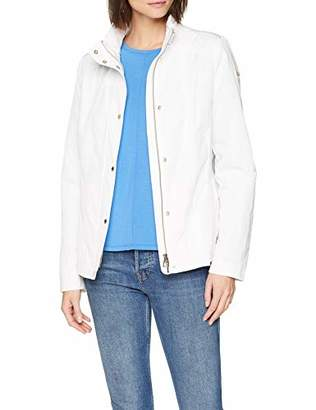 Geox Womens W ANNYA Jacket, White (Optical White F92), (Manufacturer Size: 48)