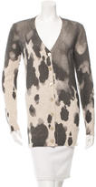Moschino Patterned V-Neck Cardigan w/ Tags