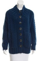 Yigal Azrouel Wool Cable-Knit Cardigan