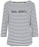 Chinti and Parker Striped Printed Cotton-Jersey Top