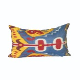 Whirling Dervish Uzbek Vintage Ikat Cushion