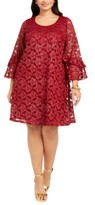 Robbie Bee Plus Size Bell-Sleeve Lace Dress