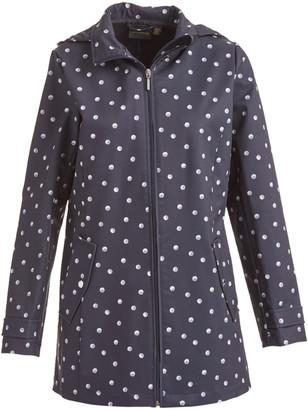 Weatherproof Women's Rain Coats Navy - Navy Moon Two-Pocket Raincoat - Women