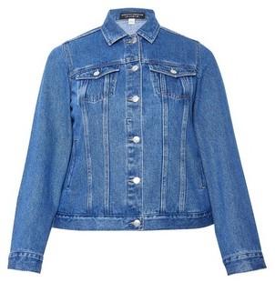 Dorothy Perkins Womens Dp Curve Blue Organic Cotton Denim Jacket, Blue