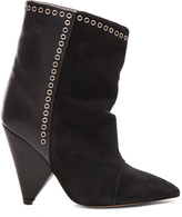 Isabel Marant Lance Velvet Eyelet Leather Boots