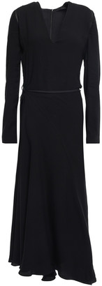 Haider Ackermann Wrap-effect Two-tone Cady Midi Dress