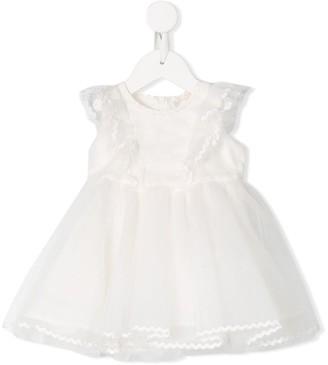 MonnaLisa Ruffled Tulle Dress