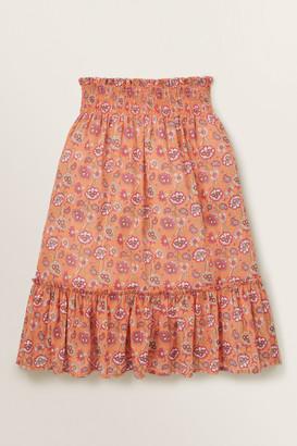 Seed Heritage Metallic Floral Midi Skirt