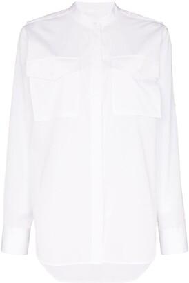 Helmut Lang Collarless Shirt