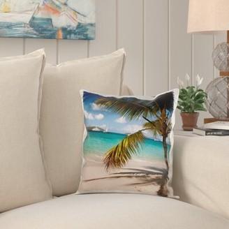 Bay Isle Home Katherine USVI, St John. Honeymoon Beach Salomon Bay Pillow Cover