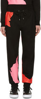 McQ by Alexander McQueen Black Abstract Icon Dart Lounge Pants