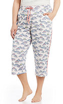 Sleep Sense Plus Straw Hat-Print Jersey Capri Sleep Pants