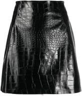 Pinko exotic leather look mini skirt