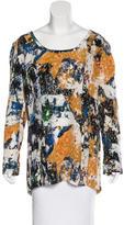 Tory Burch Silk Abstract Print Top
