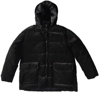 Moncler Hood Navy Velvet Coats