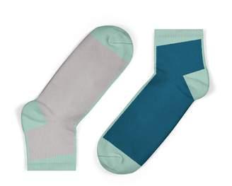 Unisock Contrast Ankle Socks In Legion Blue