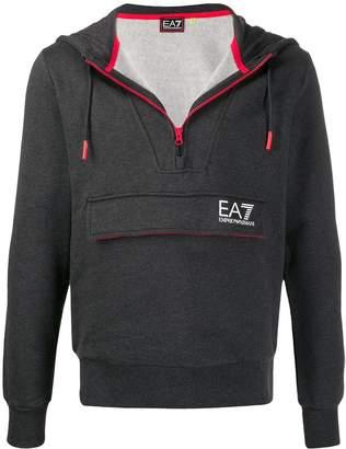 Emporio Armani Ea7 front pocket zipped hoodie